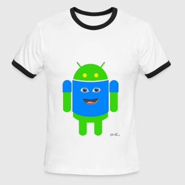 EmoTee on Robo - Men's Ringer T-Shirt