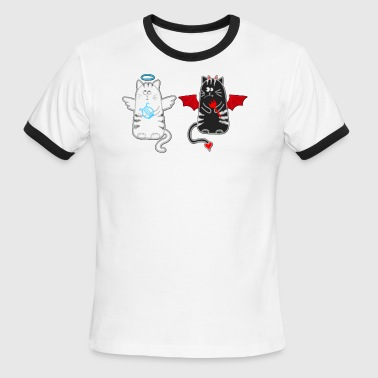 DEVIL AND ANGEL - Men's Ringer T-Shirt