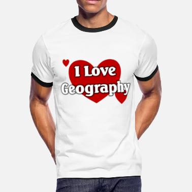 I Love Geography I love geography - Men's Ringer T-Shirt