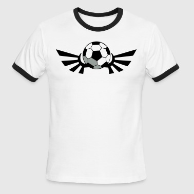 Regulation Football SOCCER BALL football with AIRFORCE wings - Men's Ringer T-Shirt