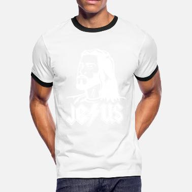 Jc Design Rockin' JEϟUS (Black) - Men's Ringer T-Shirt