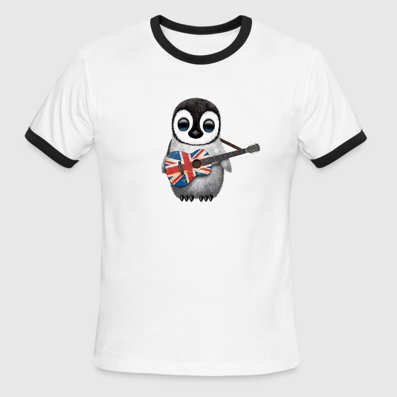 British Guitar Penguin - Men's Ringer T-Shirt