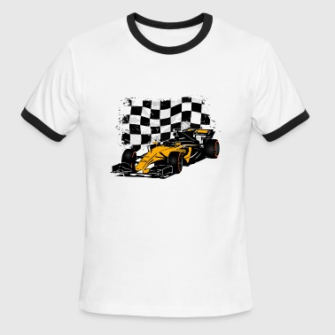 Formula One - Formula 1 - Racing Flag - Men's Ringer T-Shirt