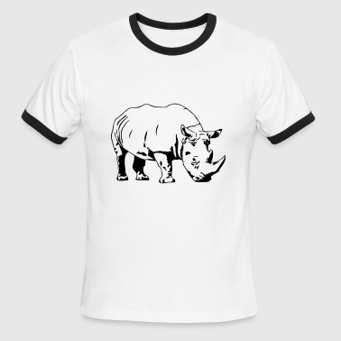 Rhino - Safari - Men's Ringer T-Shirt