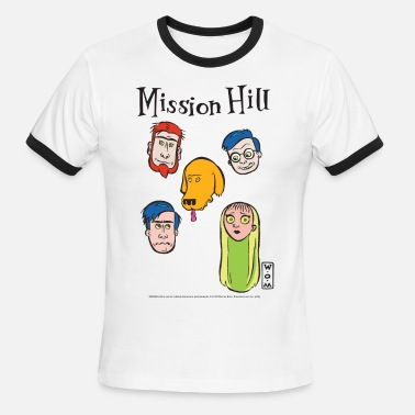 Mission Hill Mission Hill Faces T-Shirts - Men's Ringer T-Shirt