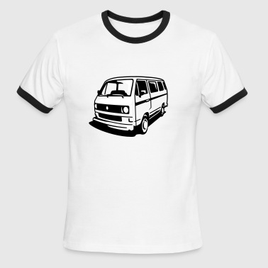 Huntington T3 Bus (2c) - Men's Ringer T-Shirt