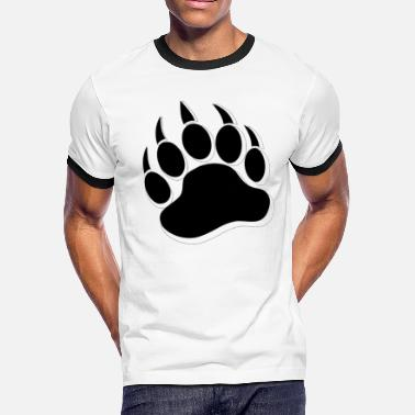 Bear Paw Cool Gay Bears Pride Bear Paw - Men's Ringer T-Shirt