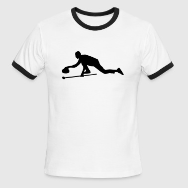 Curling - Men's Ringer T-Shirt