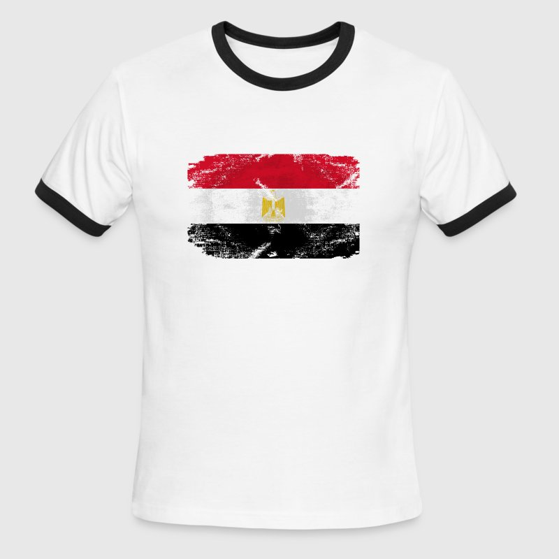 Egypt Flag - Men's Ringer T-Shirt
