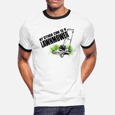 Belzebub LAWNMOWER - MY OTHER CAR IS A LAWNMOWER - Men's Ringer T-Shirt