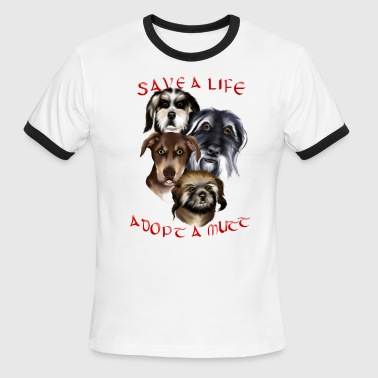 Adoption Adopt A Mutt - Men's Ringer T-Shirt