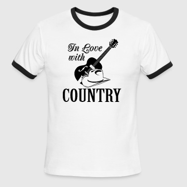 In love with country - Men's Ringer T-Shirt