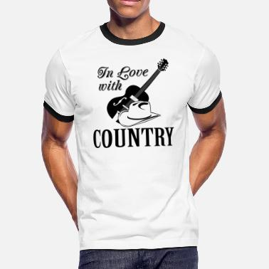 Country Love In love with country - Men's Ringer T-Shirt