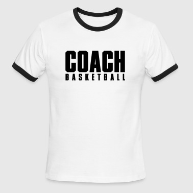 Coach Basketball - Men's Ringer T-Shirt