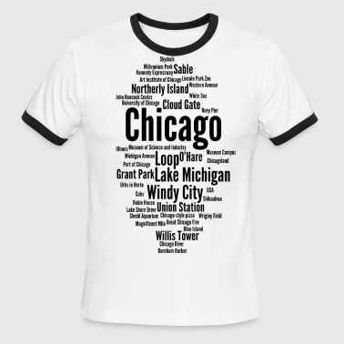 Windy City Chicago (Windy City; Illinois, USA) - Men's Ringer T-Shirt