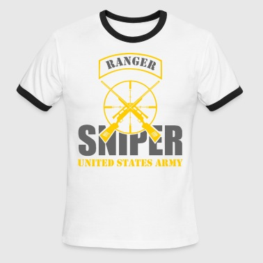 Sniper Tab Ranger US Army Team Sniper - Men's Ringer T-Shirt