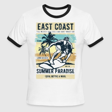 Best Coast East Coast - Men's Ringer T-Shirt
