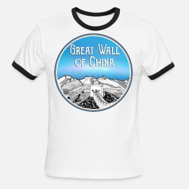 Great Wall The Great Wall of China - Men's Ringer T-Shirt