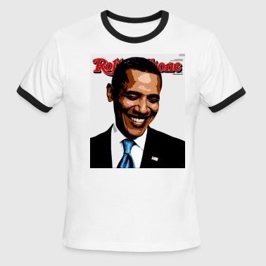 barack obama rolling stone - Men's Ringer T-Shirt