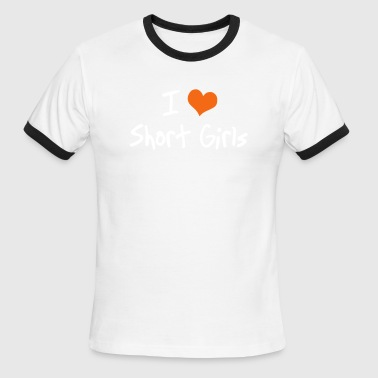 I Love Tall Girls I Heart Short Girls - Men's Ringer T-Shirt