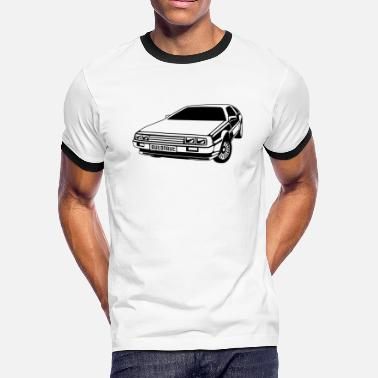 Plot Printing auto_delorean_1c - Men's Ringer T-Shirt