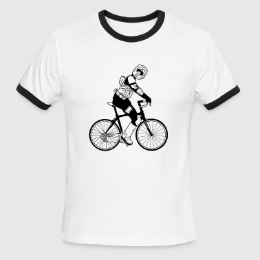 Biker Scout Biker Scout on a Bicycle - Men's Ringer T-Shirt