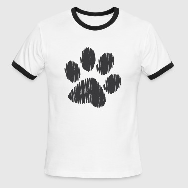 Gay Paw Print Pup Play Puppy Play - Men's Ringer T-Shirt