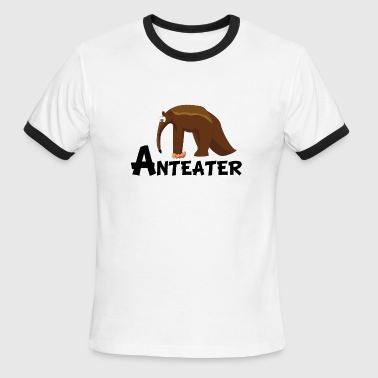 Giant Anteater Cartoon Anteater - Men's Ringer T-Shirt