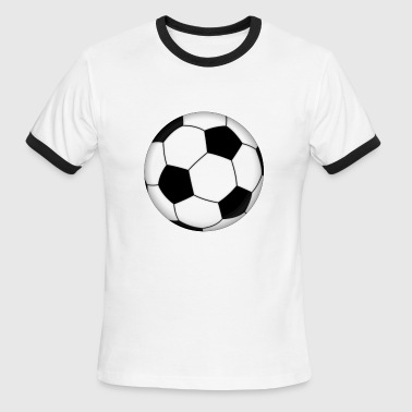 Love Soccer Ball soccer ball - Men's Ringer T-Shirt