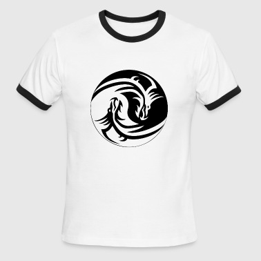 Dragon Yin Yang Dragon Yin Yang - Men's Ringer T-Shirt