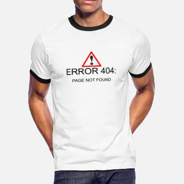 Page Not Found 404 Error Page - Men's Ringer T-Shirt