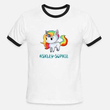 Sophie Ashley-Sophie Unicorn - Men's Ringer T-Shirt