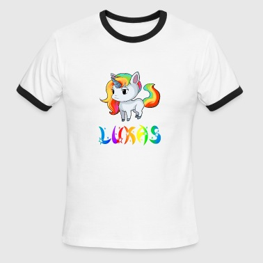 Lukas Unicorn - Men's Ringer T-Shirt