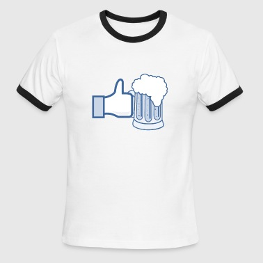 Like Beer - Add Your Own Text - Men's Ringer T-Shirt