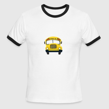 Be Nice to the Bus Driver It's A Long Walk Home - Men's Ringer T-Shirt