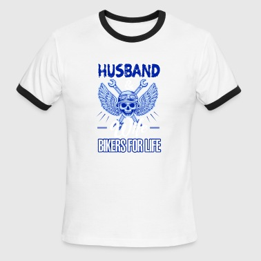 Husband And Wife Bikers For Life Shirt - Men's Ringer T-Shirt