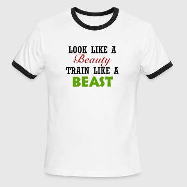 Beauty And The Beast Training Beauty Beast - Men's Ringer T-Shirt