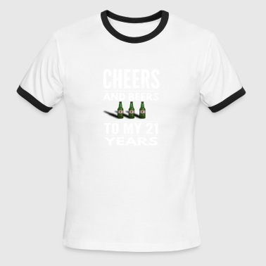 Celebrating 21 Years Awesome Cheers and Beersto 21 years birthday gift - Men's Ringer T-Shirt