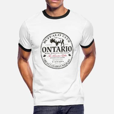 Bison Ontario Buffalo - Men's Ringer T-Shirt