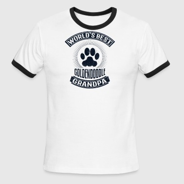 World's Best Goldendoodle Grandpa - Men's Ringer T-Shirt