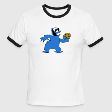 Cookie Monster and a Cookie - Men's Ringer T-Shirt
