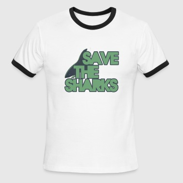Save A Shark Save the Sharks - Men's Ringer T-Shirt