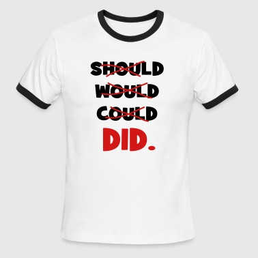 should would could did - Men's Ringer T-Shirt