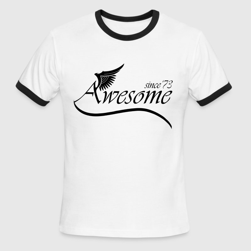 Awesome SINCE 1973 - Men's Ringer T-Shirt
