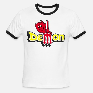 Dodge Demon DODGE DEMON Emblem - Men's Ringer T-Shirt