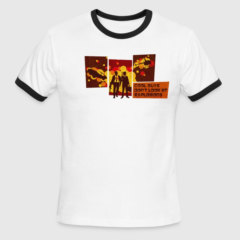 Cool Guys Don't Look at Explosions - Men's Ringer T-Shirt