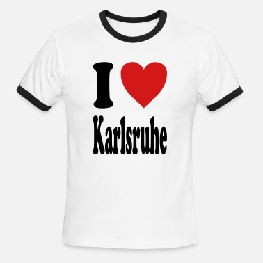 Karlsruhe I love Karlsruhe (variable colors!) - Men's Ringer T-Shirt
