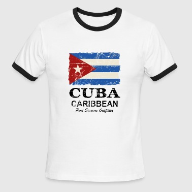 Cuba Flag - Vintage Look  - Men's Ringer T-Shirt