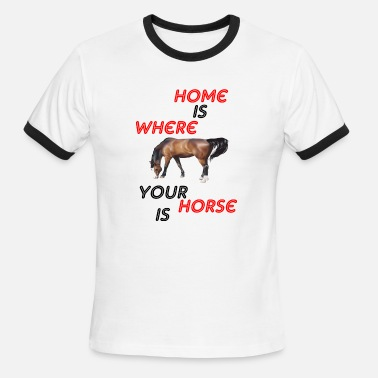 Where-is-the-love home is where - Men's Ringer T-Shirt