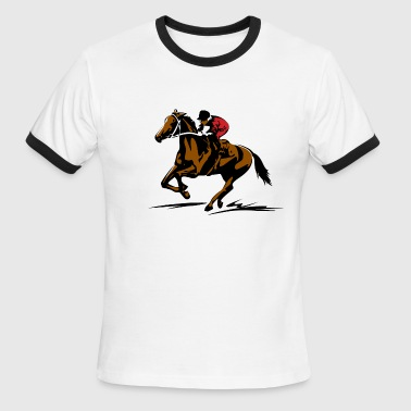 Horse Racing A - Men's Ringer T-Shirt